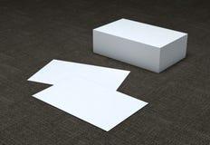 Cartões vazios, projeto da identidade, moldes incorporados, estilo da empresa Imagens de Stock Royalty Free