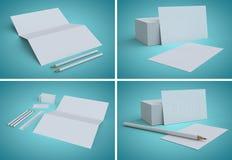 Cartões vazios, projeto da identidade, moldes incorporados, estilo da empresa Fotos de Stock