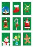 Cartões verdes Fotos de Stock