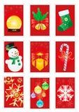 Cartões vermelhos Fotografia de Stock Royalty Free