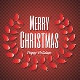 2018, cartões vermelhos e brancos com Feliz Natal text e festão Fundo efervescente do feriado, beira da poeira do vetor grande ilustração do vetor