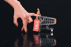 cart вектор бирки покупкы сбывания иллюстрации рабата принципиальной схемы Стоковые Изображения RF