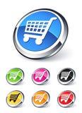 cart покупка иконы иллюстрация штока