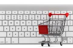 cart покупка клавиатуры Стоковое Фото