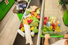 cart покупка человека Стоковое фото RF