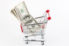 cart ходить по магазинам долларов Стоковые Изображения