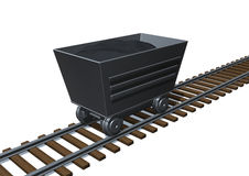 Cart. 3d image of a train cart Stock Image