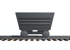 Cart. 3d image of a train cart Royalty Free Stock Images