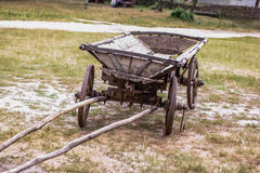 Cart. Ancient cart on the yard Stock Photo