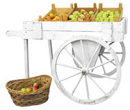 Cart with apples Royalty Free Stock Photography