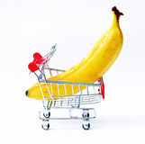 Cart with  banana Royalty Free Stock Photo