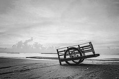 Cart on the beach Royalty Free Stock Image