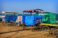 Cart on beach Stock Image