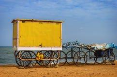 Cart on beach Royalty Free Stock Image