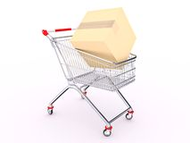 Cart with box Stock Images