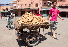 Cart bread Morocco Stock Images