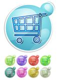 Cart button Royalty Free Stock Photography
