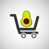 Cart buy avocado food Stock Photography
