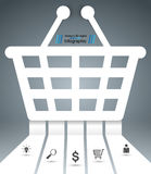 Cart, buy, shop icon. Origami cut paper Royalty Free Stock Images