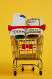 Cart with cash Royalty Free Stock Photography