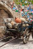Cart with clay pots in Cappadocia Royalty Free Stock Photo