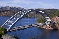 Cart Creek Bridge at Flaming Gorge Utah Stock Images
