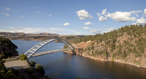 Cart Creek Bridge at Flaming Gorge Utah. Overlooking Cart Creek Bridge at Flaming Gorge National Recreation Area and the Flaming Gorge Reservoir within the royalty free stock images