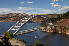 Cart Creek Bridge at Flaming Gorge Utah. Cart Creek Bridge at Flaming Gorge National Recreation Area and the Flaming Gorge Reservoir within the Ashley National stock image
