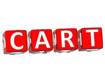 Cart Cube text Stock Photos