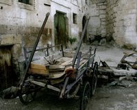 cart den gammala turkiska byn Royaltyfria Bilder