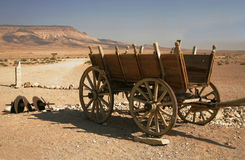 Cart in desert Stock Photo