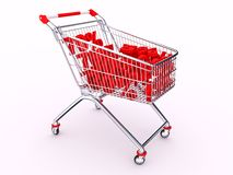 Cart with discounts Royalty Free Stock Images