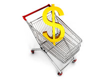 Cart with dollar Stock Photo