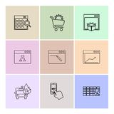 Cart ,dropbox , windows , ui , layout , web , user interface ,. Cart ,dropbox ,windows , ui , layout , web , user interface , technology , online , shopping vector illustration