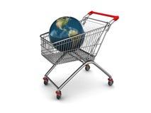 cart earth shopping 库存图片