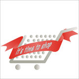 Cart with a festive ribbon Royalty Free Stock Images