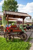 Cart with flowers Royalty Free Stock Image