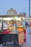 Cart with food on the street of Istanbul Royalty Free Stock Images