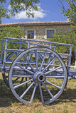 Cart in front of french country house. Provence. Royalty Free Stock Photography