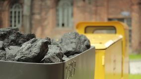 Cart full of a coal stock video footage