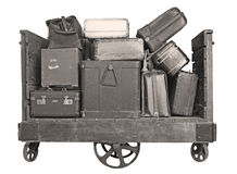 Cart full with old Suitcases Royalty Free Stock Image