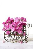 Cart full of pink roses Stock Images