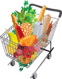 Cart full of products. Royalty Free Stock Image