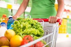 cart full shopping Royaltyfri Bild