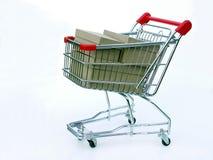 cart full shopping Royaltyfri Fotografi