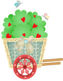 Cart Garden with Heart Tree Stock Image