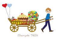 Cart with gifts Royalty Free Stock Photography