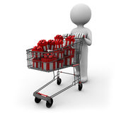 Cart of gifts Stock Photo