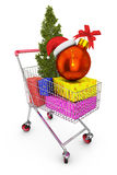 Cart with gifts Stock Photo