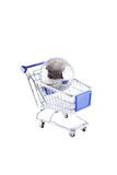 cart global shopping Arkivfoton